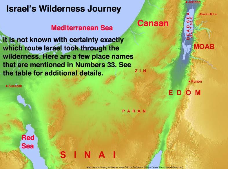 Israel's Wilderness Journey