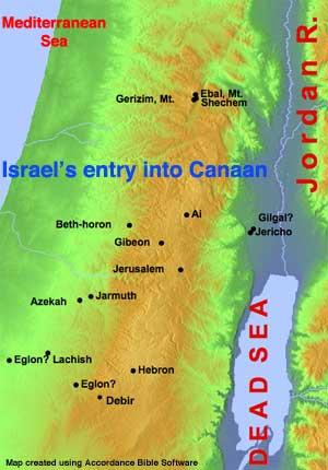 Joshua 9-11 Map
